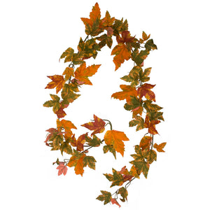 Maple Leaf Garland - Autumn Orange Gold - 183cm