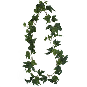 Maple Leaf Garland - Green - 183cm - Box Lot Deal of 12 garlands