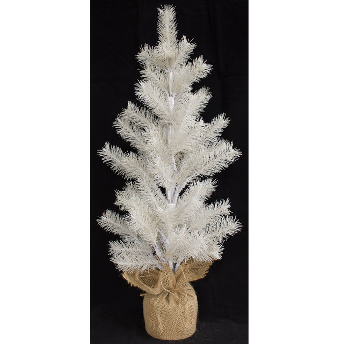 NZ Slim Line Spruce Christmas Tree - White - 60cm CLEARANCE SPECIAL