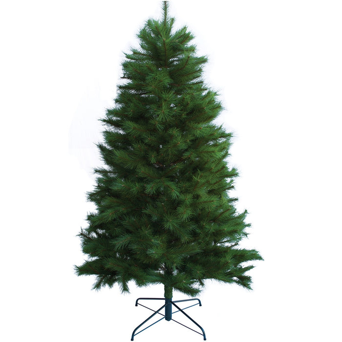 Busy Person Artificial Christmas Tree - NZ Pure Pine, 7.6ft Green - Complete with lights and all decorations in Red and Gold