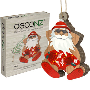 Deconz 3D Cardboard Model Kit New Zealand Decoration - Santa *** SPECIAL ***