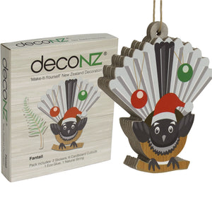 Deconz 3D Cardboard Model Kit New Zealand Decoration - Fantail *** SPECIAL ***