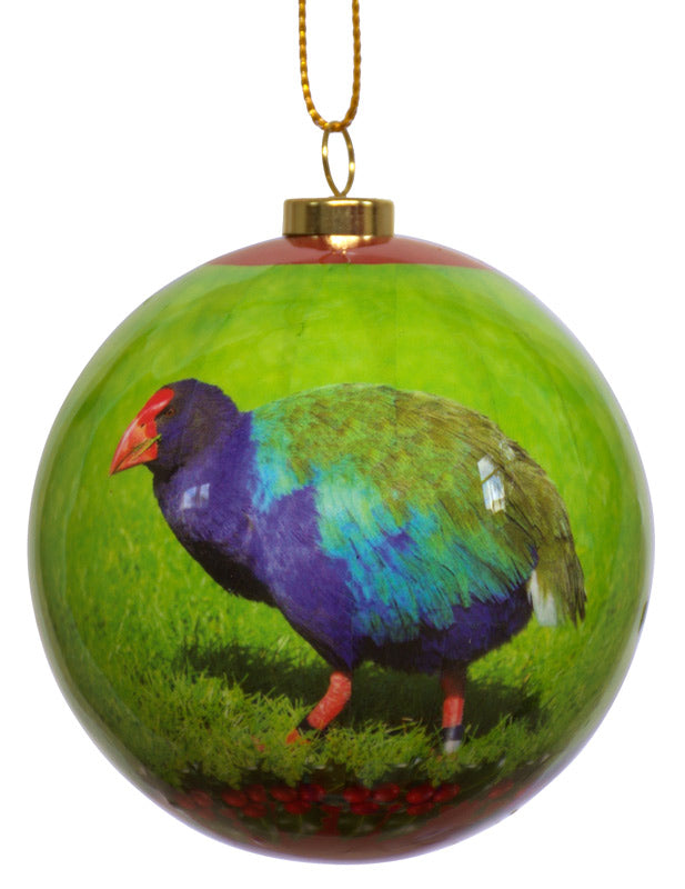 NZ Christmas Bird Baubles - Christmas Takahe (Box of Two) *** CLEARANCE SPECIAL ***