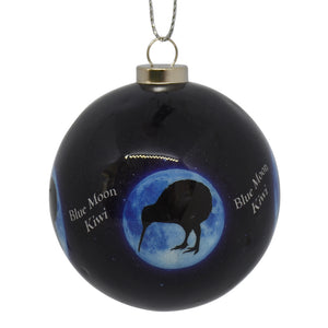 Decoration - New Zealand Kiwi Blue Moon bauble