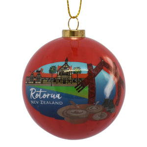 Decoration - New Zealand Rotorua Bauble - Box Lot Deal (6)