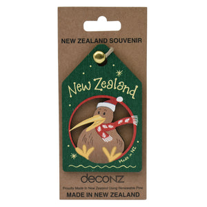 New Zealand Made Christmas Decoration - Kiwi