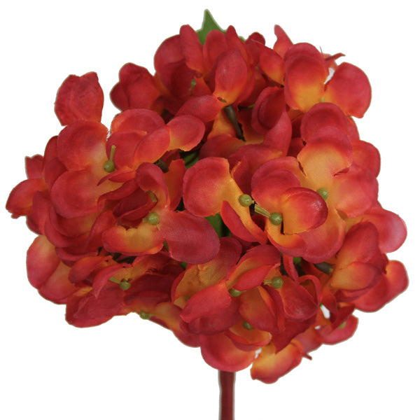 Hydrangea Pick - Burnt Orange