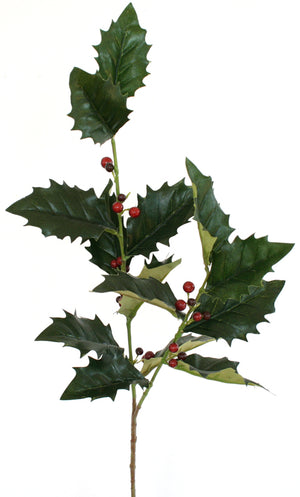 Holly & Berry Spray - Long Stem - 73cm