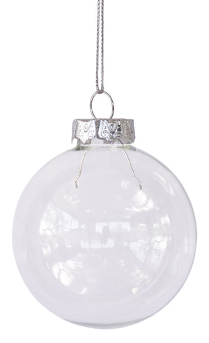 Glass Baubles - Pack of 4 X 70mm - SPECIAL