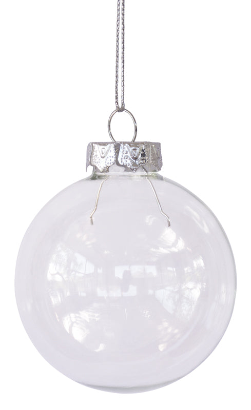 Glass Baubles - Pack of 4 X 70mm *** SPECIAL ***