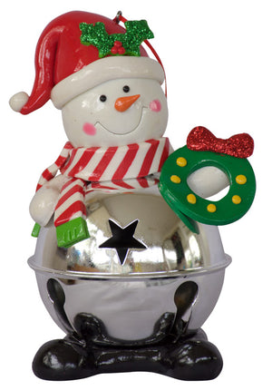 Bell Body Snowman - Frosty - 14cm CLEARANCE SPECIAL
