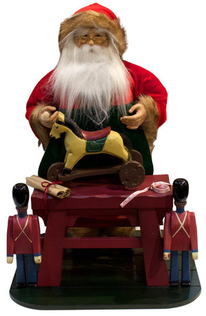 Santa with his toy workshop