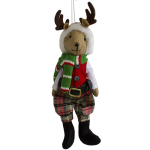Reindeer Boy - Hanging Christmas Decoration