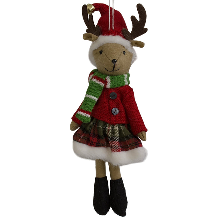 Reindeer Girl - Hanging Christmas Decoration