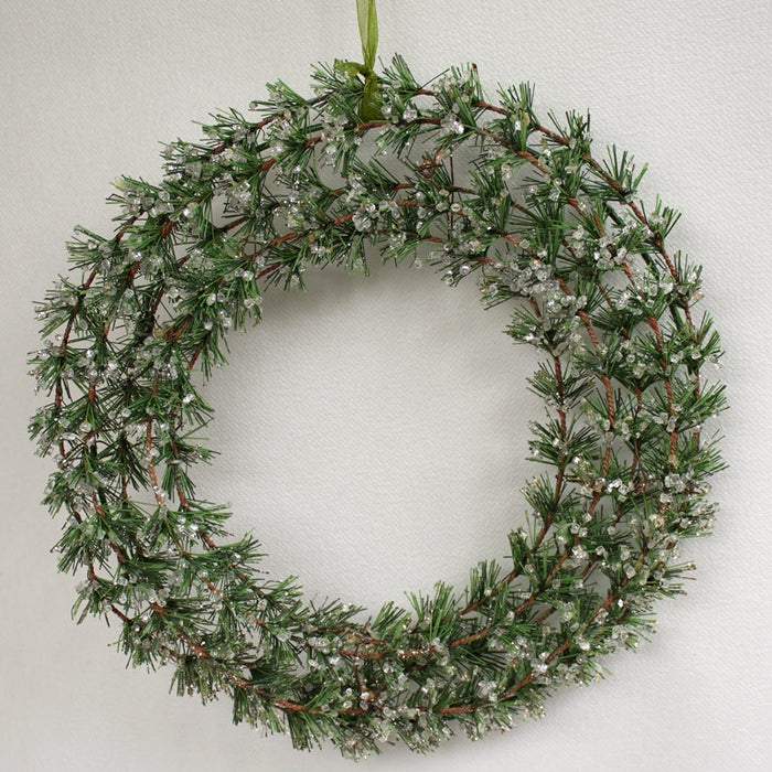 Cedar Ice Wreath - 30cm