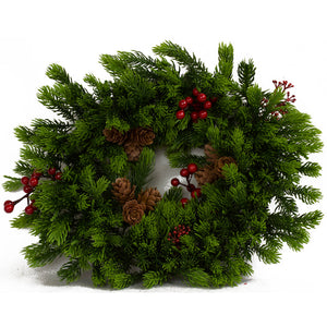 Wreath - Green Spruce Table Centre Piece
