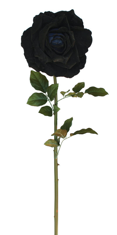 Giant Velvet Rose - Black