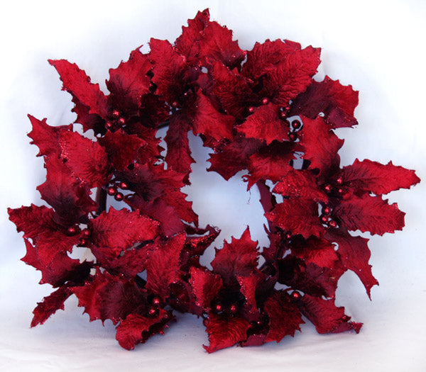 Wreath - Holly - Red
