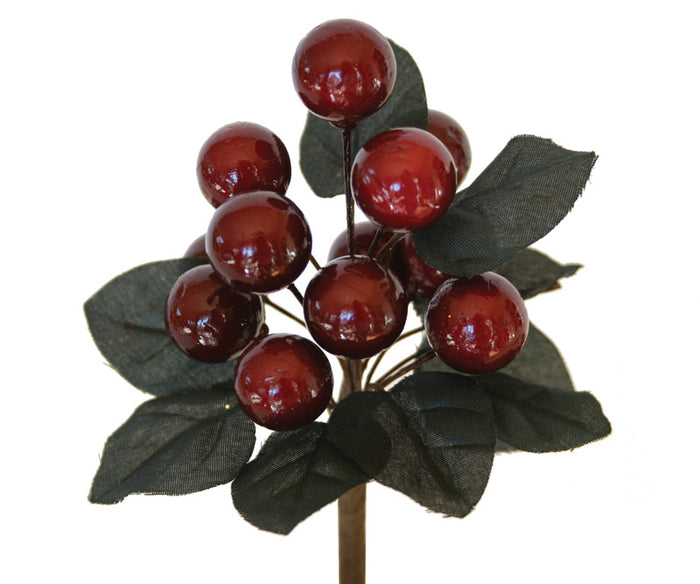 Decorative Berry Picks - Burgundy X 12 SPECIAL