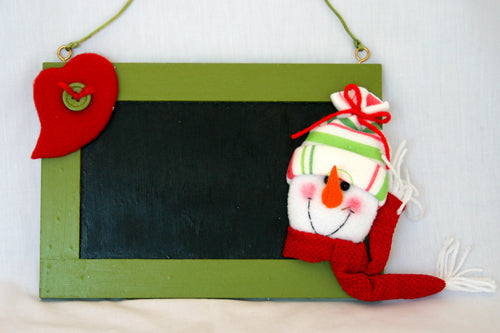 Child's Door Blackboard - Snowman *** END OF LINE SPECIAL ***