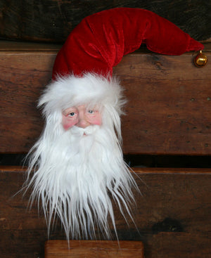 Santa's Head - Traditional Decoration IMPORTER'S CLEARANCE SPECIAL