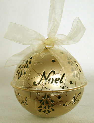 Ball Noel - Gold Tin Christmas Decoration - Box Lot Deal (12)