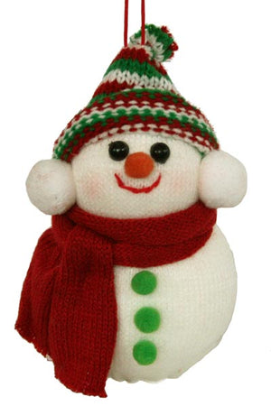 Christmas Snowman - Red Scarf