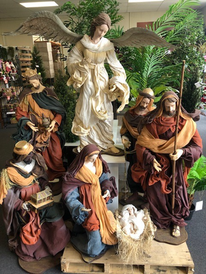 Extra Large Nativity - 4ft - 7 pieces