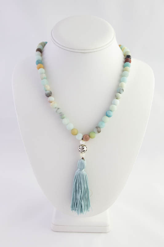 Amazonite and Mother of Pearl Mala