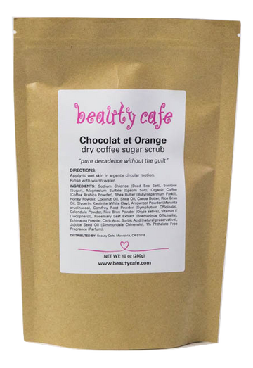 Chocolate et Orange Dry Coffee Scrub