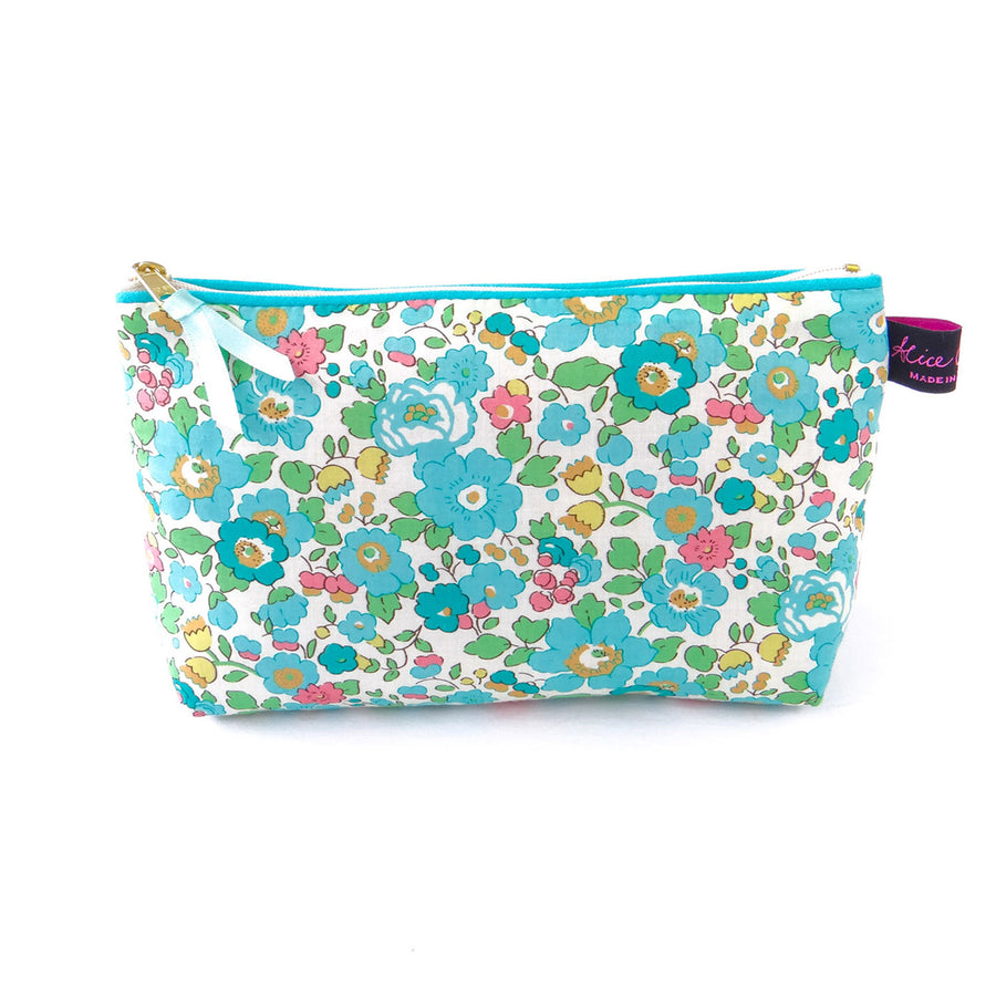Alice Caroline Betsy Turquoise Cosmetic Bag