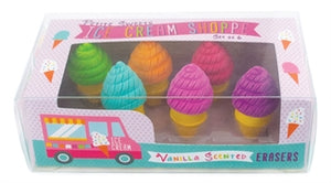 Petite Sweets Ice Cream Shoppe Scented Erasers - Set of 6