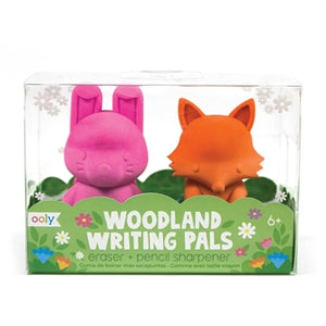 Woodland Writing Pals Erasers and Pencil Sharpeners - Set of 2