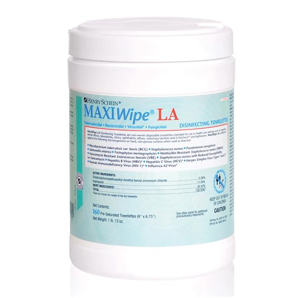 Wipes Germicidal MaxiWipe LA Large 160/Cn