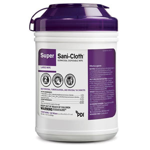 Wipes Germicidal Super Sani-Cloth Large (Purple) 160/Package