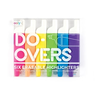 Do-Overs Erasable Highlighters - Set of 6