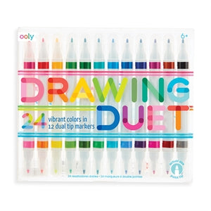 Drawing Duet Double Ended Markers - Set of 12/24 Colors