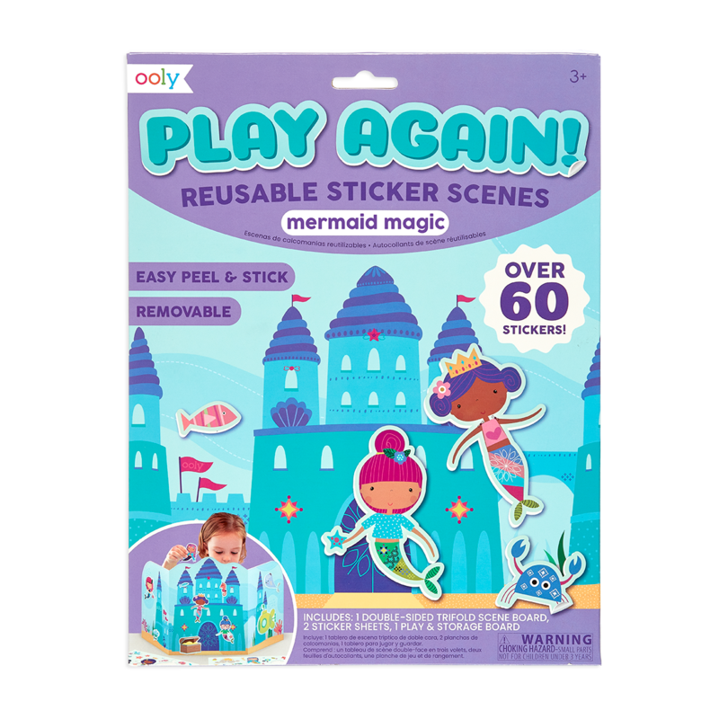 Play Again! Reusable Sticker Scenes - Mermaid Magic