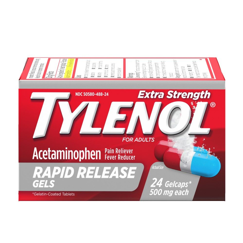 Tylenol Extra Strength Rapid Release Gels with Acetaminophen - 24 ct