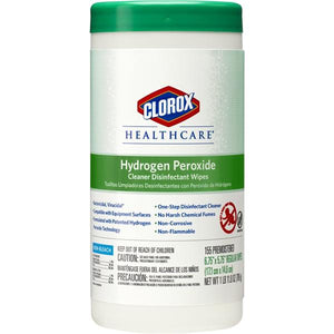 Wipes Hydrogen Peroxide Clorox Regular 155/Can