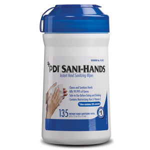 Wipes Antimicrobial Sani-Hands 70% Ethyl Alcohol Fragrance Free 135/CN
