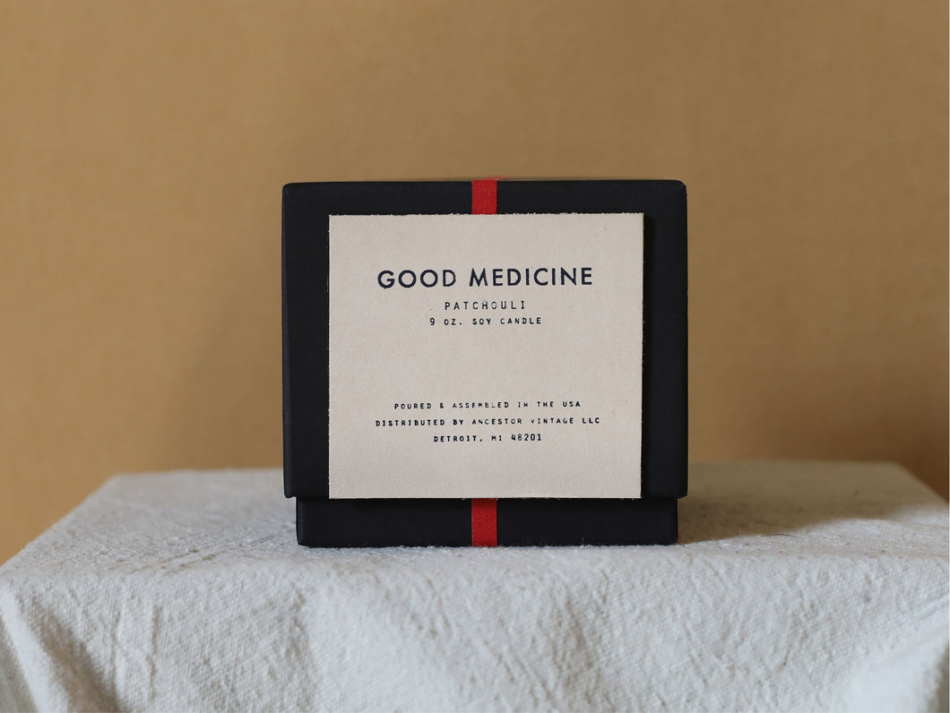GOOD MEDICINE WHITE PATCHOULI CANDLE