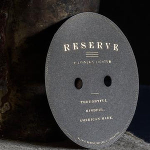 RESERVE dark: Amber Noir, 2-wick candle