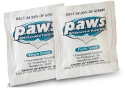 Wipes Antimicrobial p.a.w.s. 65.9% Ethyl Alcohol Fresh 100ct individually wrapped