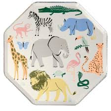 Safari Animals Dinner Plates