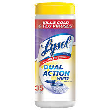 Lysol Dual Action Disinfecting Wipes Citrus 35ct