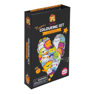 Neon Colouring Set - Glow Friends by Tiger Tribe