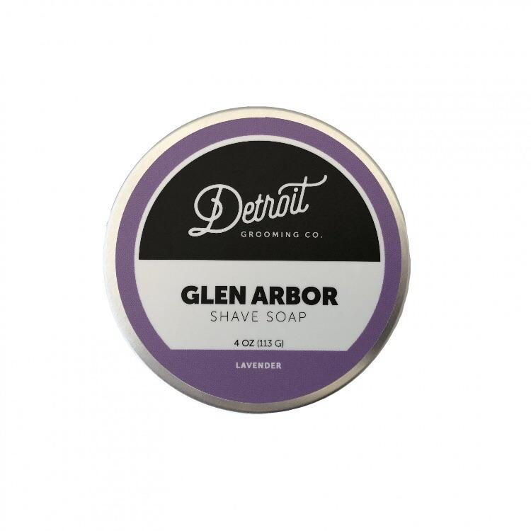 Shave Soap in Travel Tin 4 oz. Glen Arbor