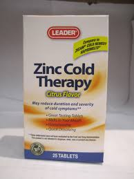 Zinc Cold Therapy