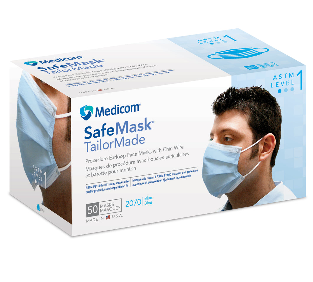 SafeMask® TailorMade® Earloop Mask 50ct/box